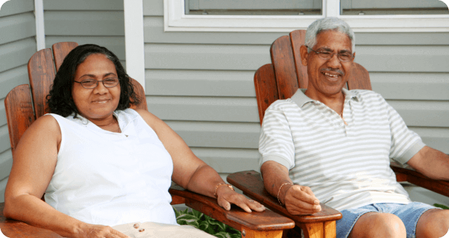 old couples smiling